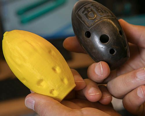 Original ocarina and replica ocarina