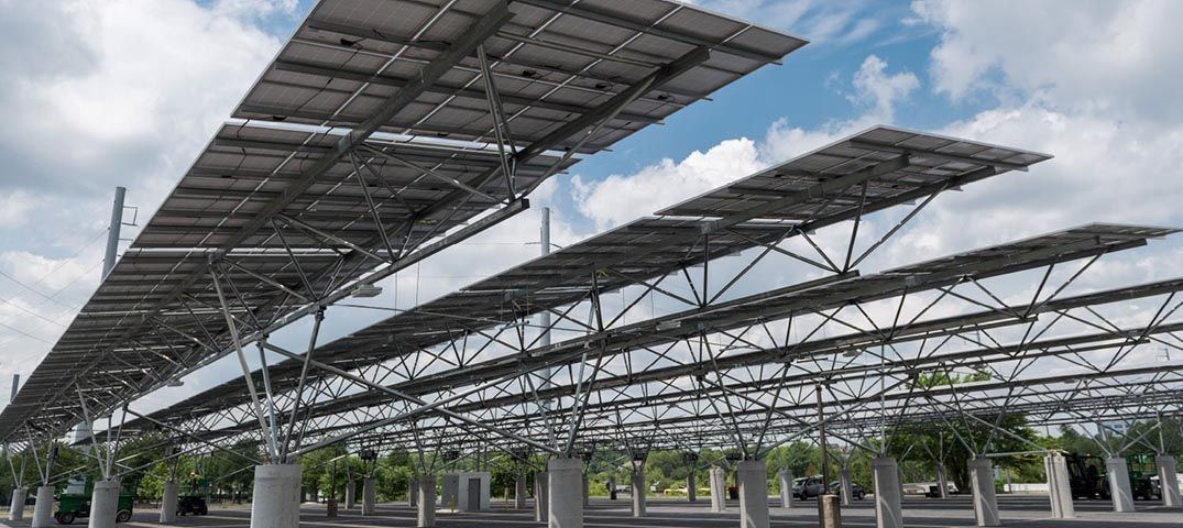 Photo of solar canopy & Solar Canopy Will Power Atlantau0027s New Football Stadium ...