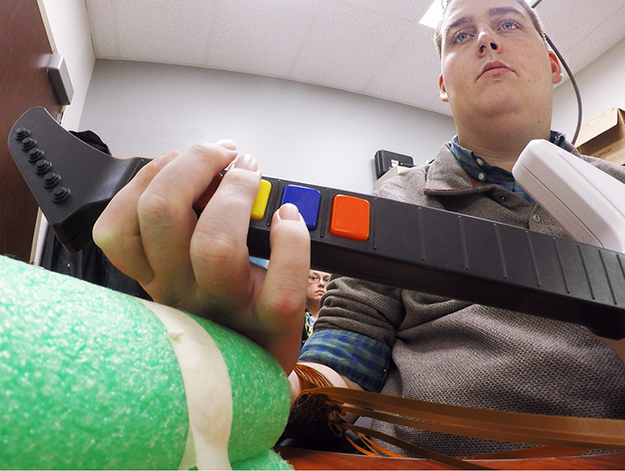 Ian Burkhart, is a 24-year-old quadriplegic from Dublin, Ohio