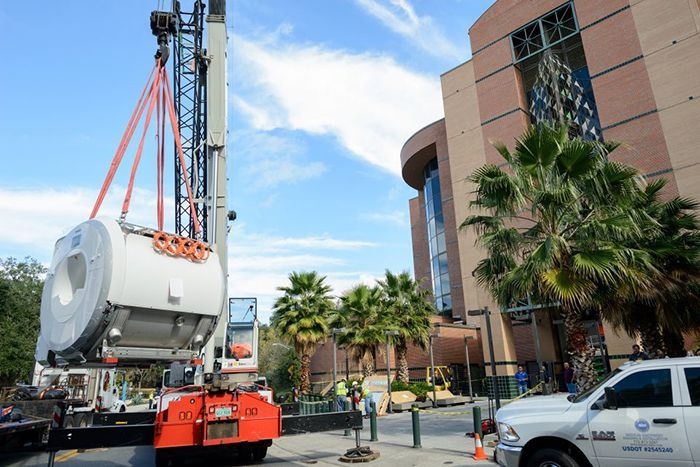A new $3 million 3T MRI scanner being installed at the McKnight Brain Institute