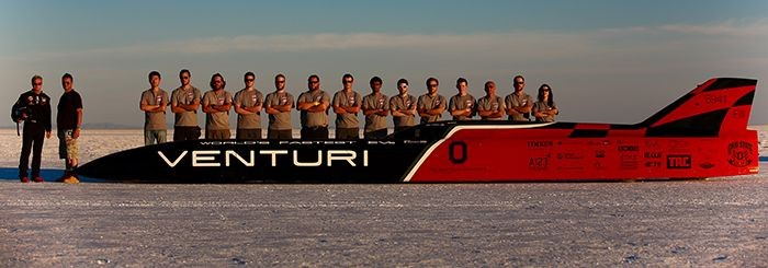 Venturi Buckeye Bullet 3 team with racer