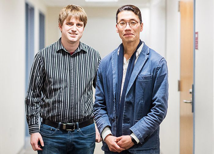 PhD student Jacob Harer (left) and research professor Peter Chin