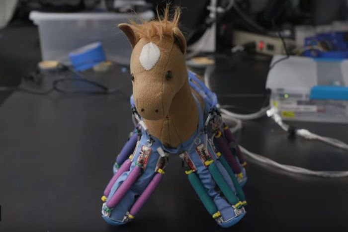 Stuff animal with robotic skin