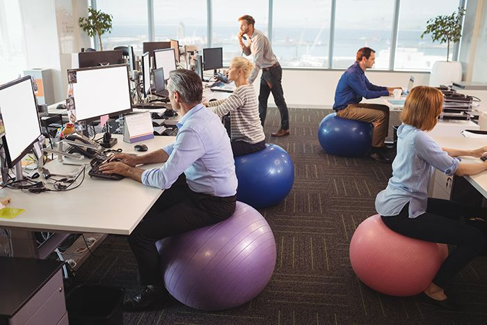 Short bursts of exercise add up to a healthier life study finds - Stability ball for office ...