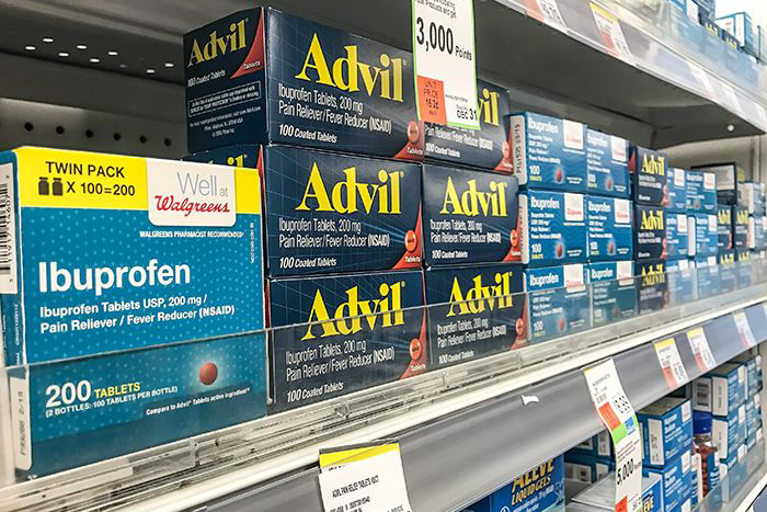 over-the-counter drugs on a shelf