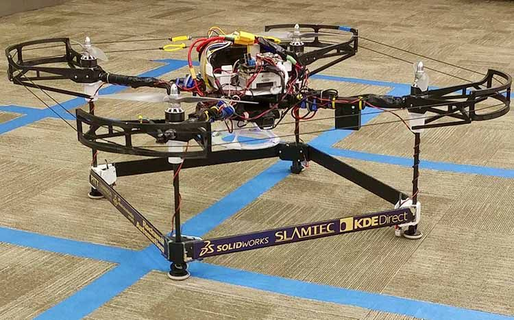 The drone that won the Best System Design award at the 2017 International Aerial Robotics Competition