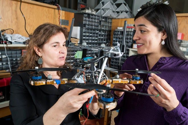 MIT professor Daniela Rus (left) and research scientist Stephanie Gil
