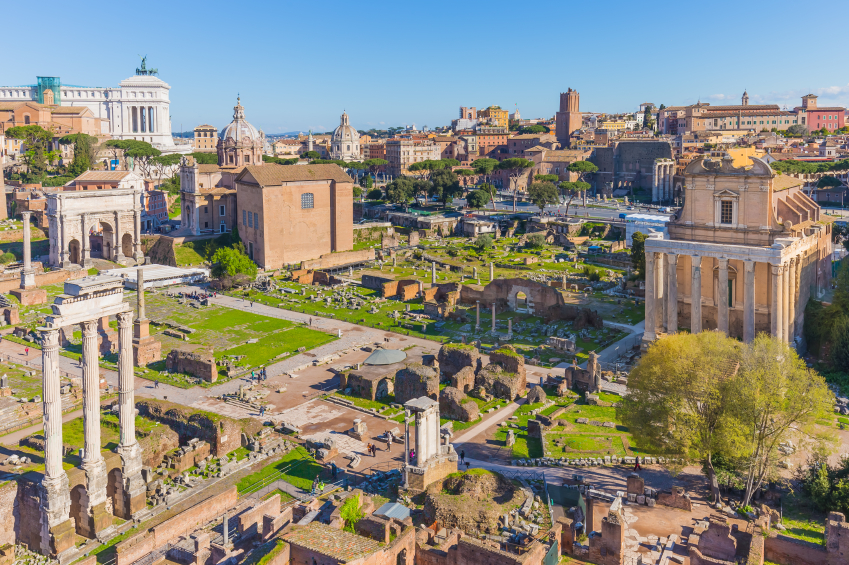 Archaeological sites in an Italian city